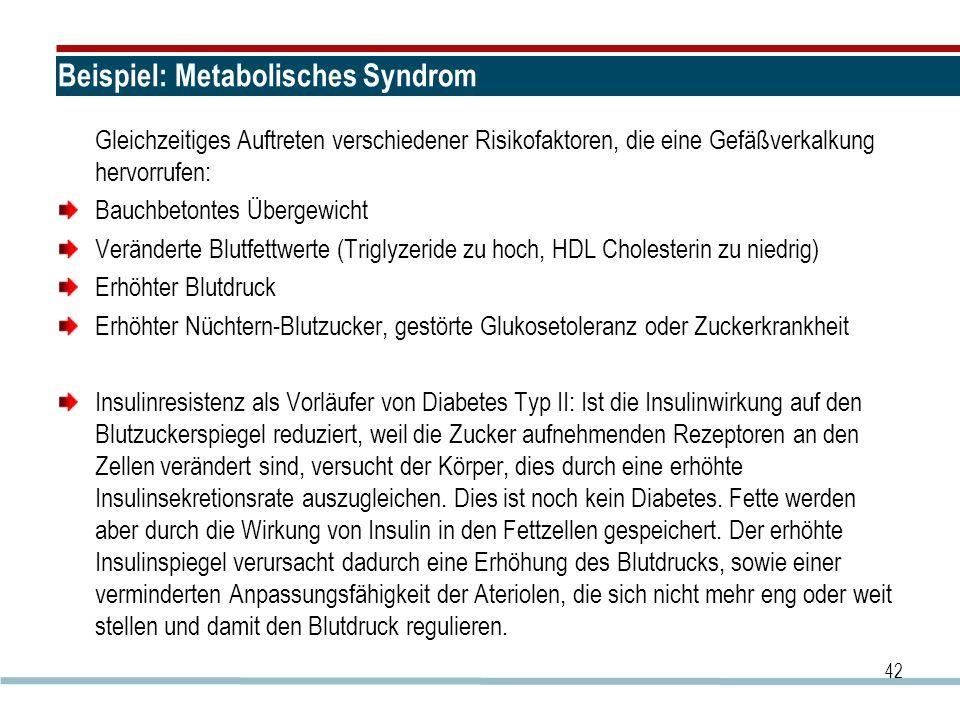 Beispiel: Metabolisches Syndrom