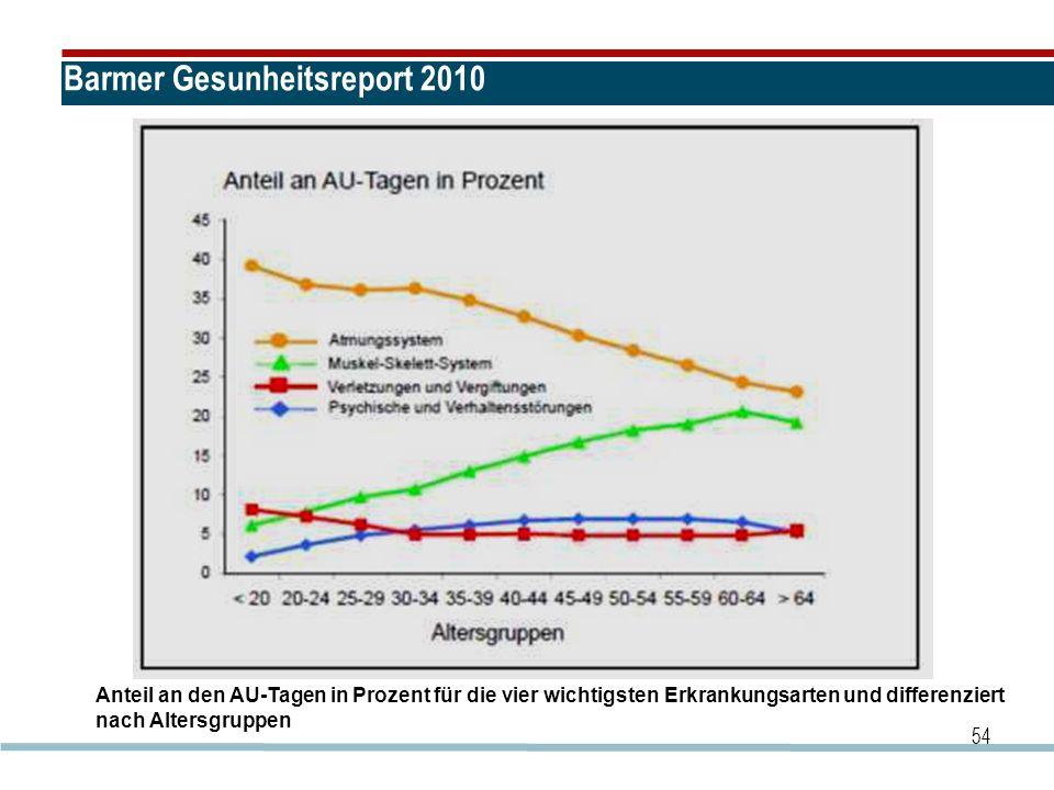 Barmer Gesunheitsreport 2010
