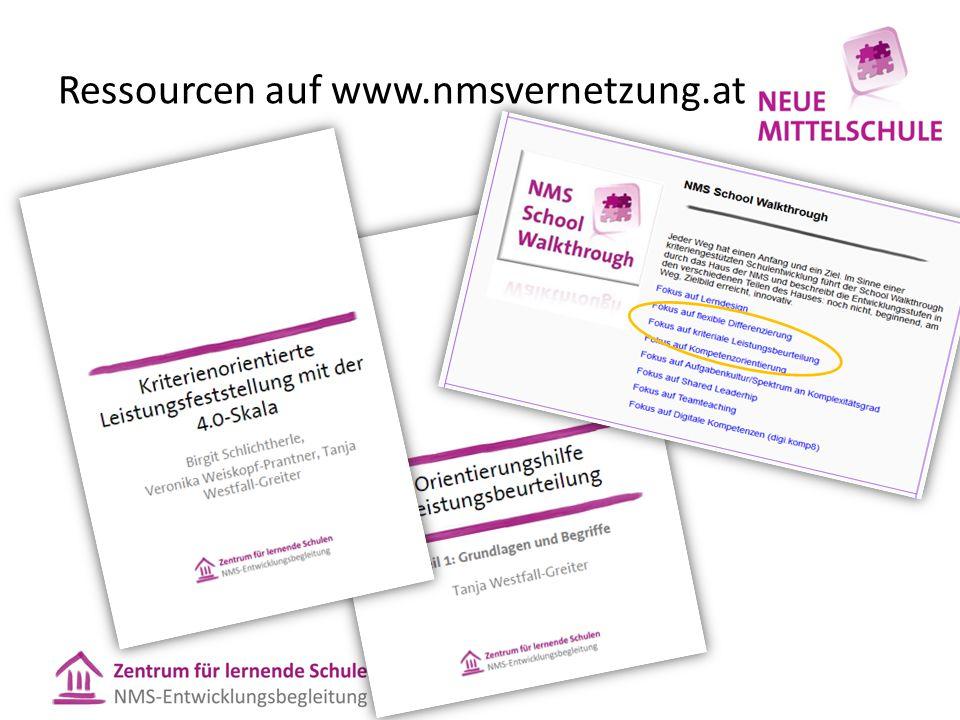 Ressourcen auf www.nmsvernetzung.at