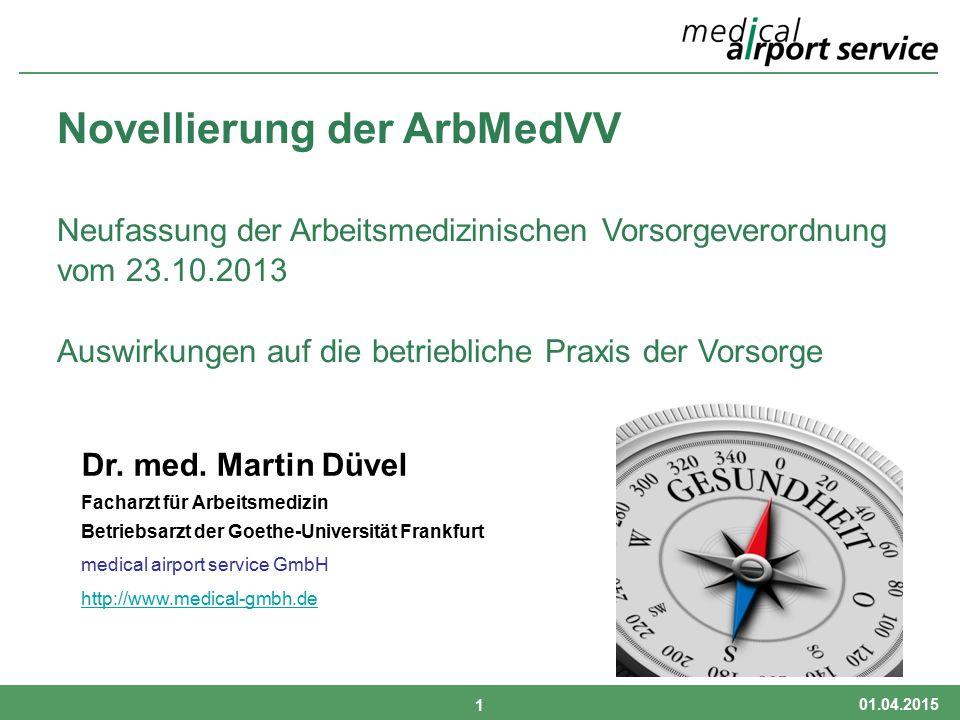 Novellierung ArbMedVV 2013