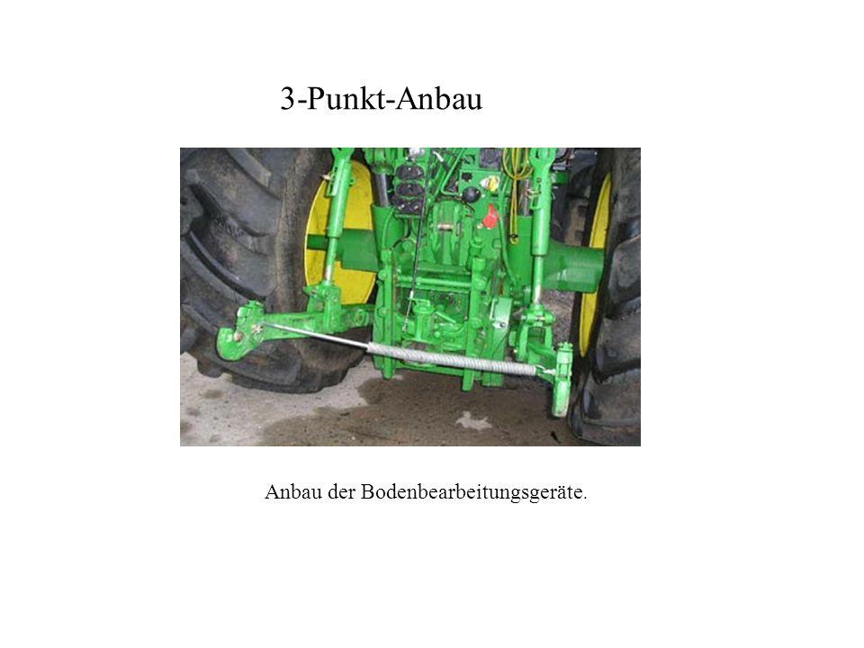 Anbau der Bodenbearbeitungsgeräte.