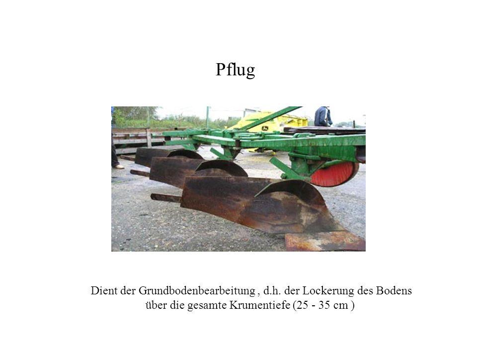 Pflug Pflug. Dient der Grundbodenbearbeitung , d.h.