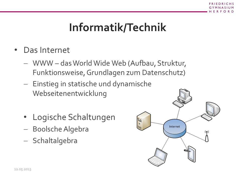 Informatik/Technik Das Internet Logische Schaltungen