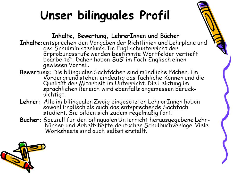 Unser bilinguales Profil