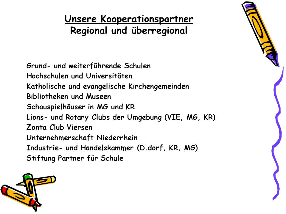 Unsere Kooperationspartner Regional und überregional