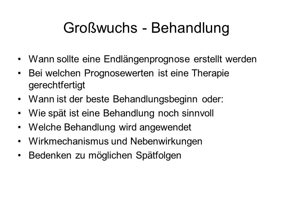 Großwuchs - Behandlung