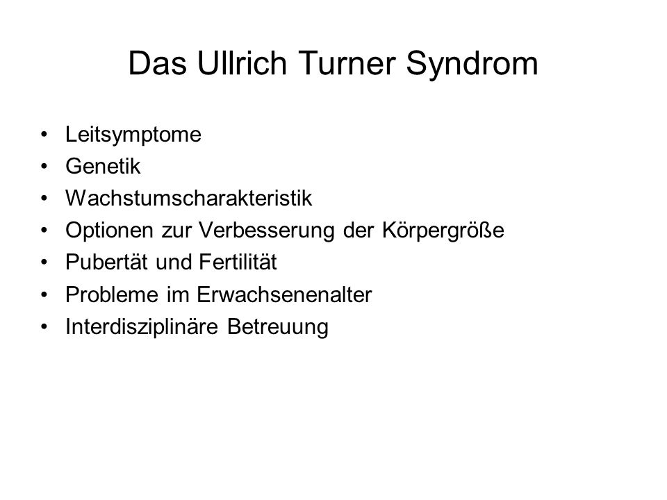 Das Ullrich Turner Syndrom