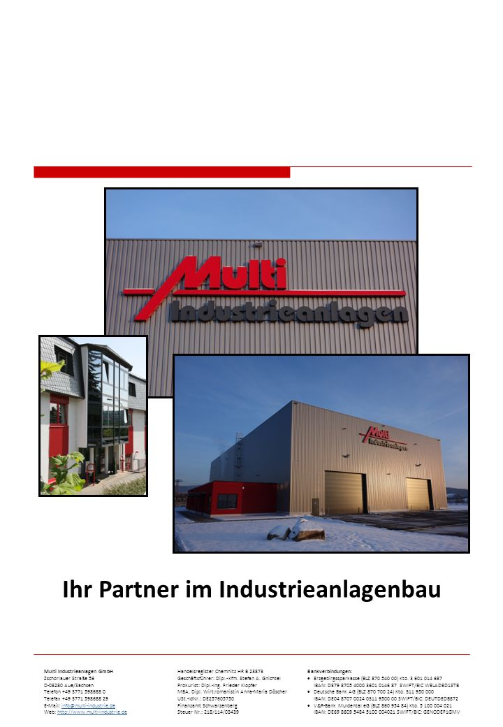 Ihr Partner im Industrieanlagenbau