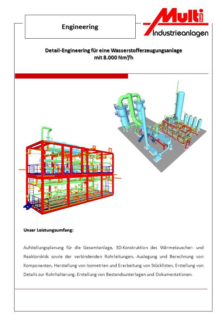 Detail-Engineering für eine Wasserstofferzeugungsanlage