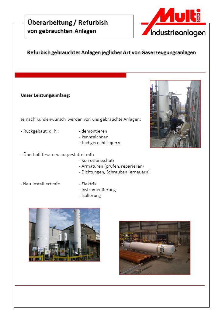 Überarbeitung / Refurbish von gebrauchten Anlagen