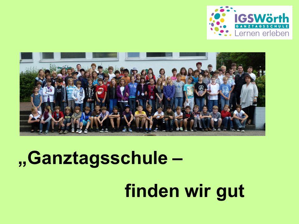 """""""Ganztagsschule – finden wir gut"""