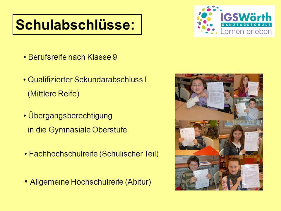 Schulabschlüsse: Allgemeine Hochschulreife (Abitur)