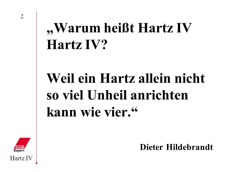 "2 ""Warum heißt Hartz IV Hartz IV."