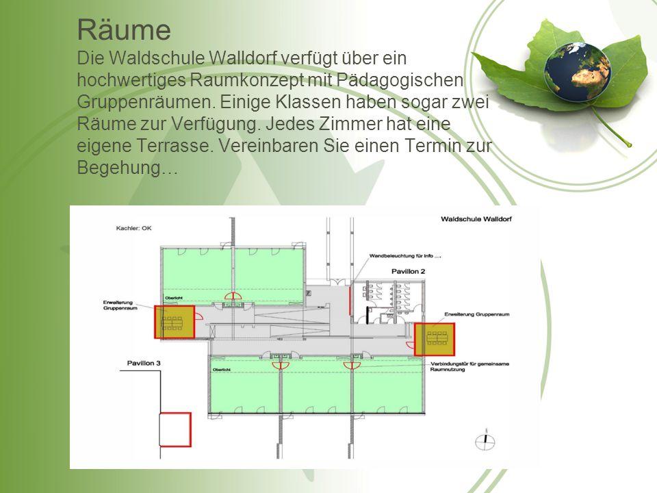 Räume Die Waldschule Walldorf verfügt über ein hochwertiges Raumkonzept mit Pädagogischen Gruppenräumen.