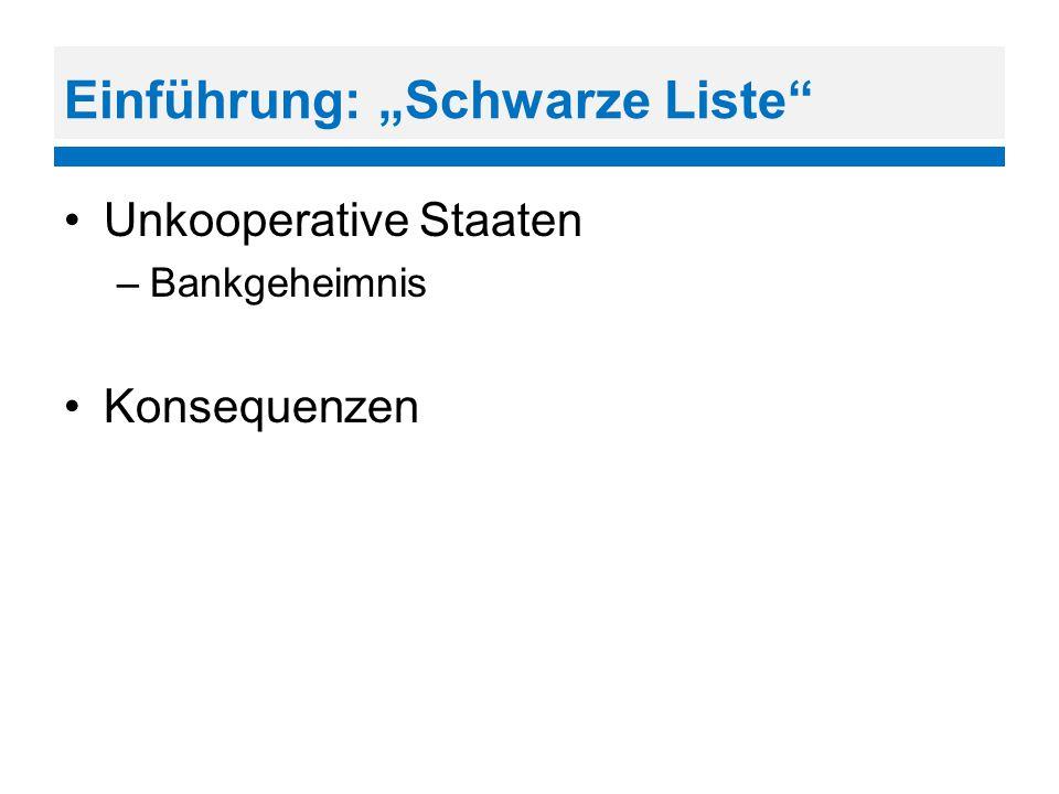 """Einführung: """"Schwarze Liste"""