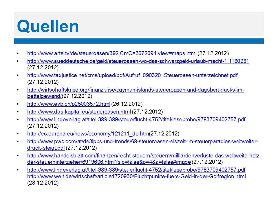Quellen http://www.arte.tv/de/steueroasen/392,CmC=3672694,view=maps.html (27.12.2012)