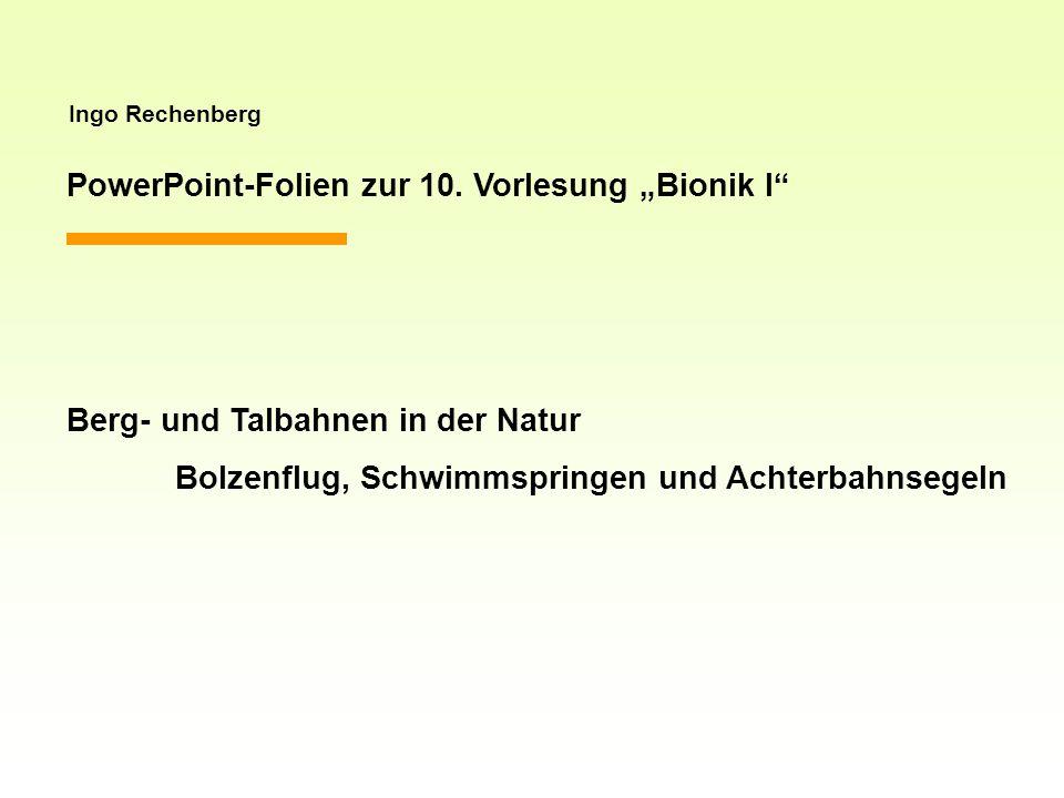 """PowerPoint-Folien zur 10. Vorlesung """"Bionik I"""