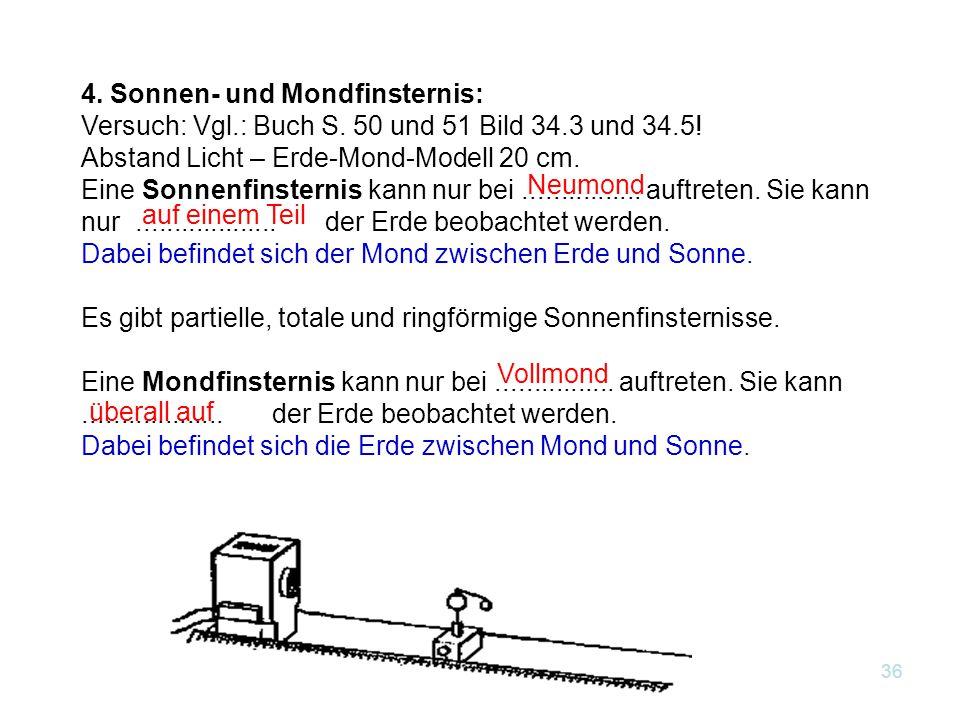 4. Sonnen- und Mondfinsternis:
