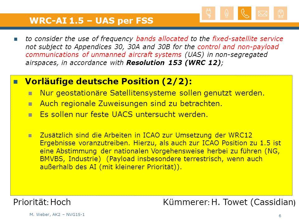 Vorläufige deutsche Position (2/2):