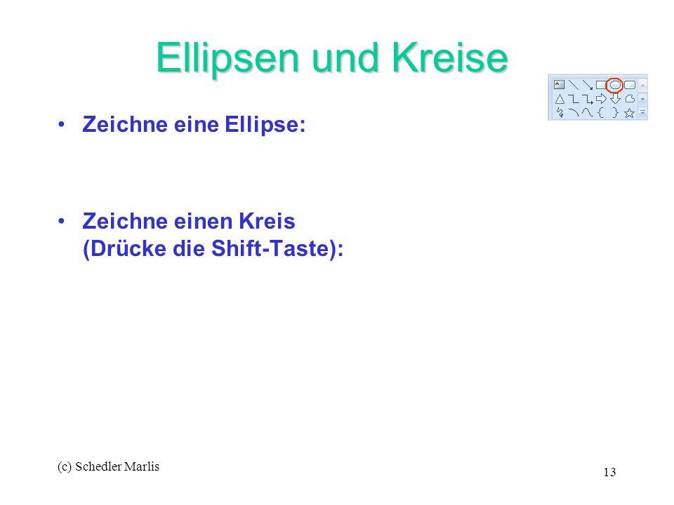 Ellipsen und Kreise Zeichne eine Ellipse: