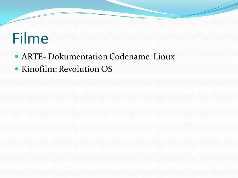 Filme ARTE- Dokumentation Codename: Linux Kinofilm: Revolution OS
