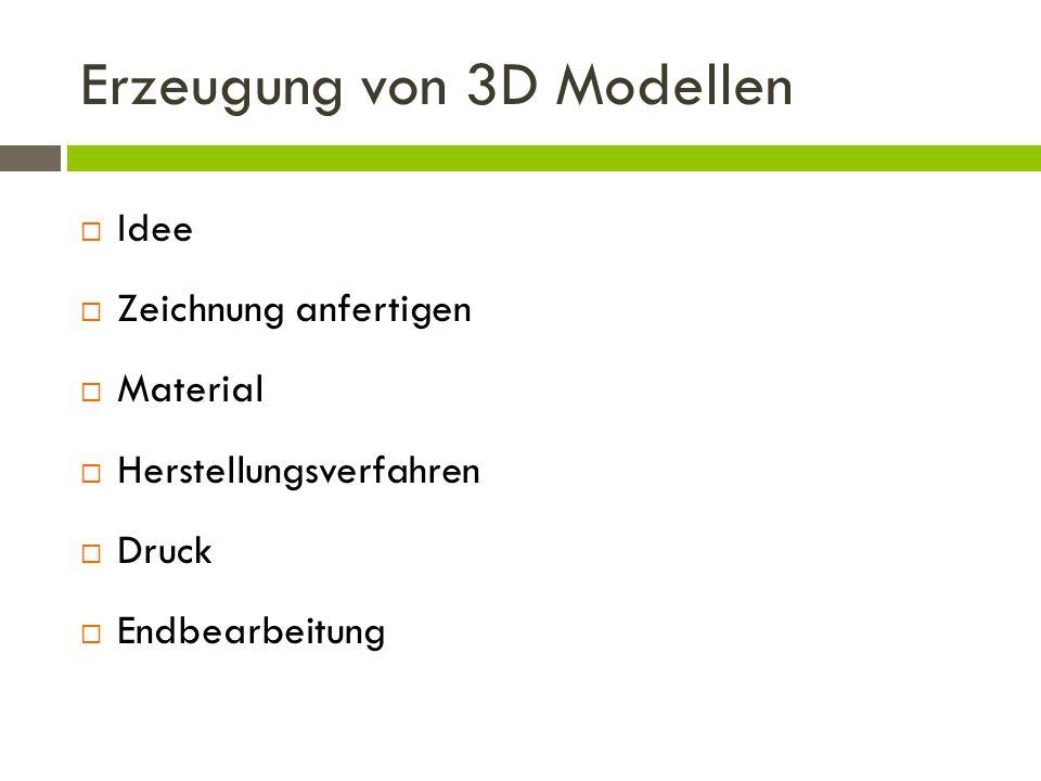 Erzeugung von 3D Modellen