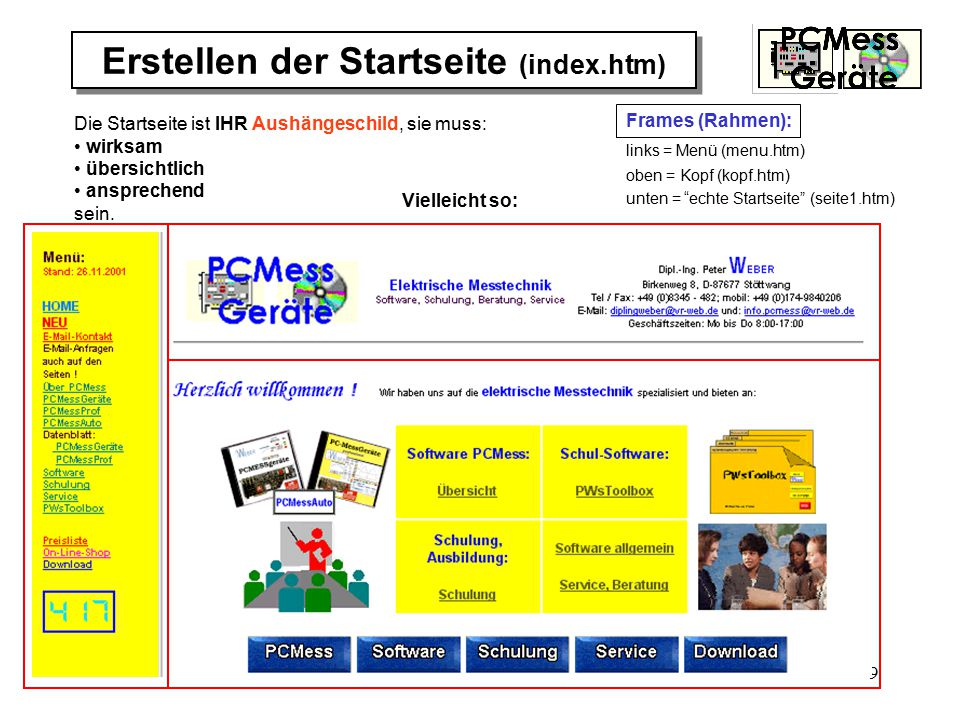 Erstellen der Startseite (index.htm)