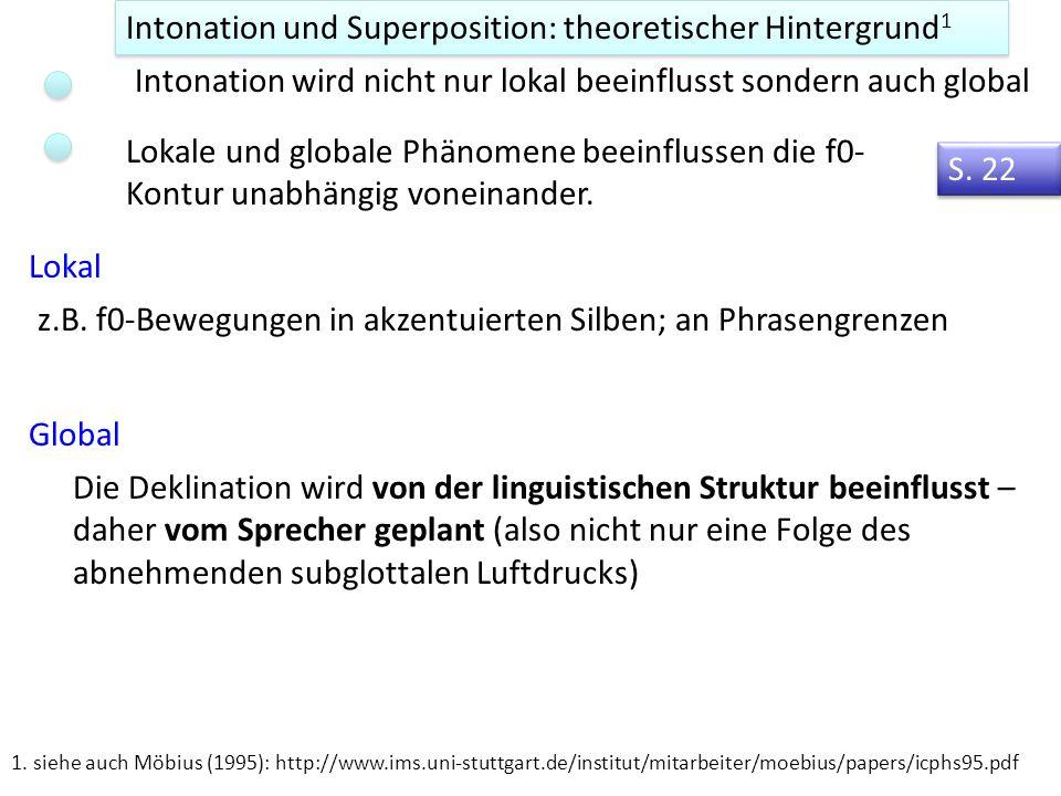 Intonation und Superposition: theoretischer Hintergrund1