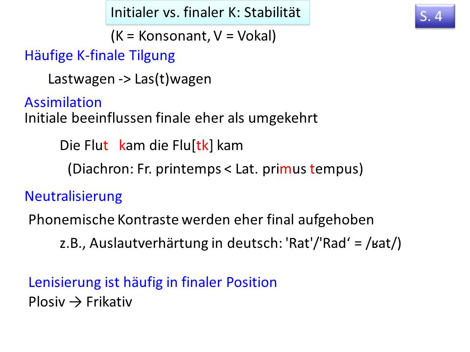 Initialer vs. finaler K: Stabilität