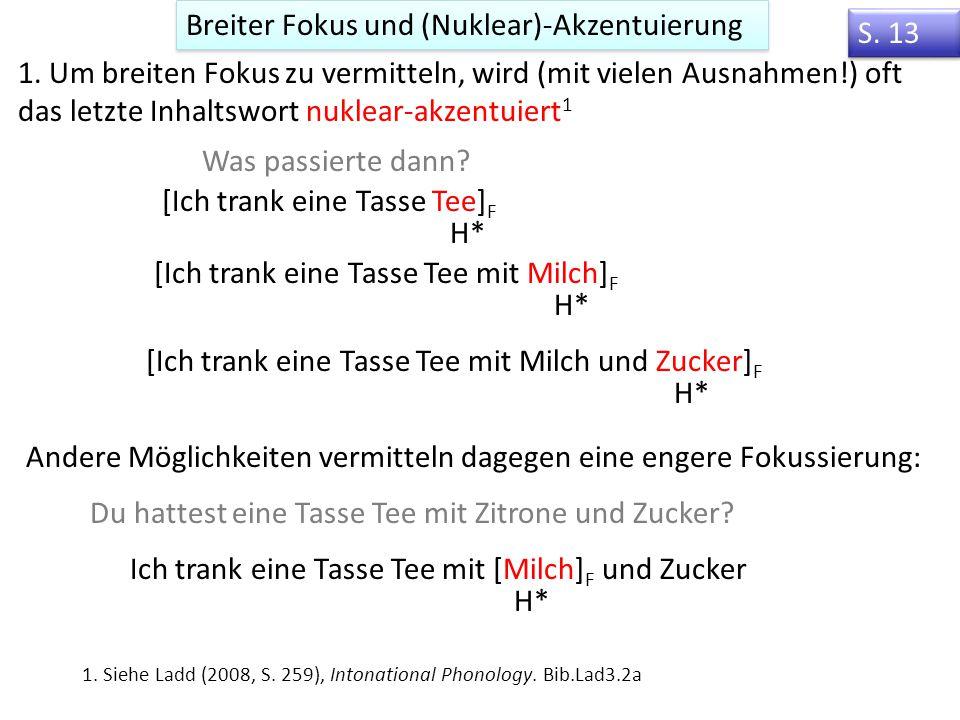 Breiter Fokus und (Nuklear)-Akzentuierung S. 13