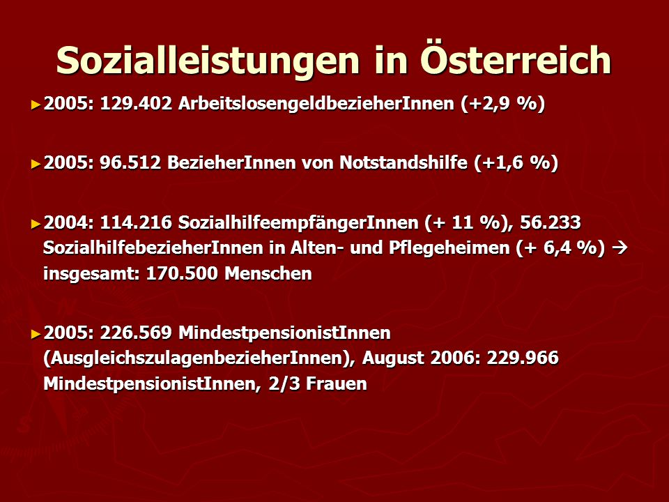 Sozialleistungen in Österreich