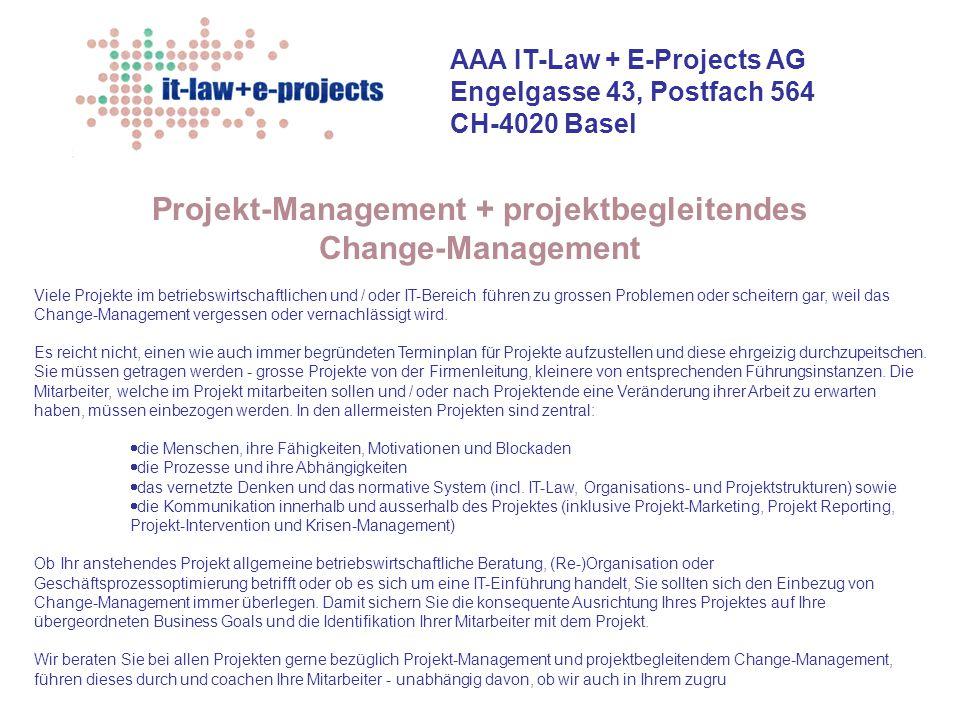 Projekt-Management + projektbegleitendes