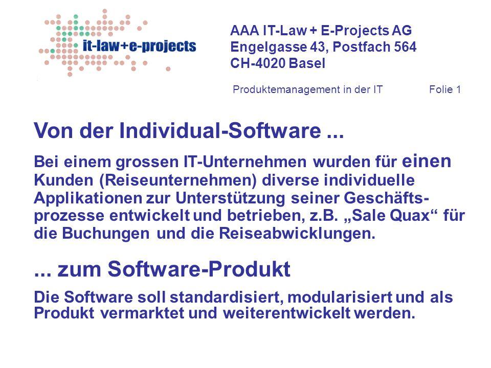 Von der Individual-Software ...