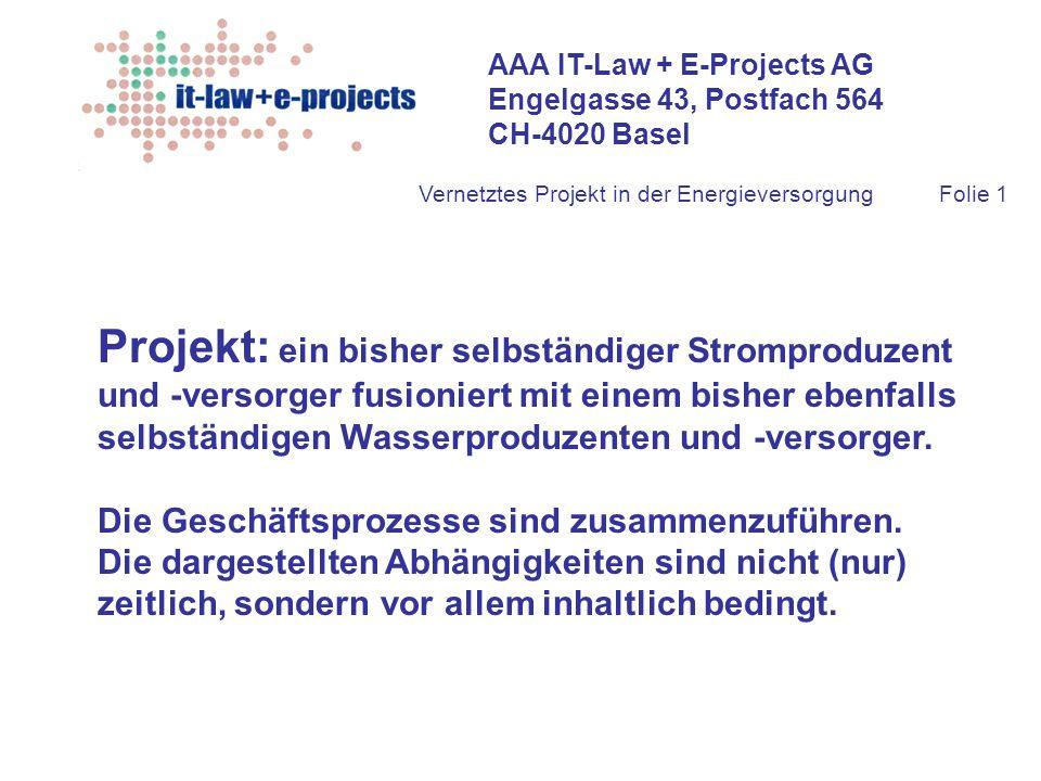Projekt: ein bisher selbständiger Stromproduzent