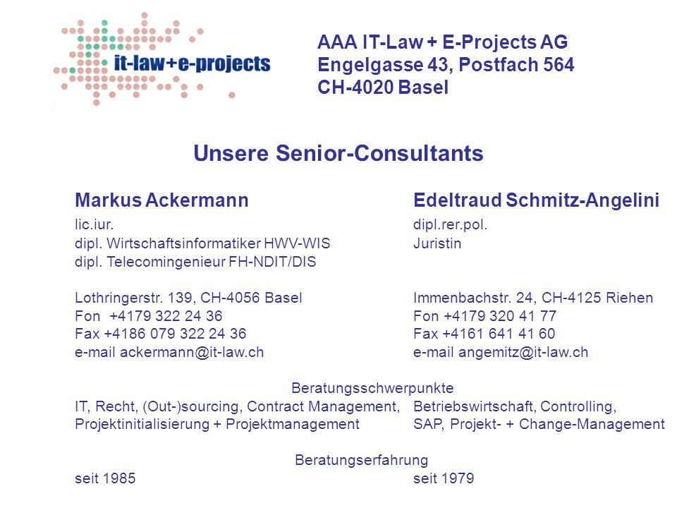Unsere Senior-Consultants