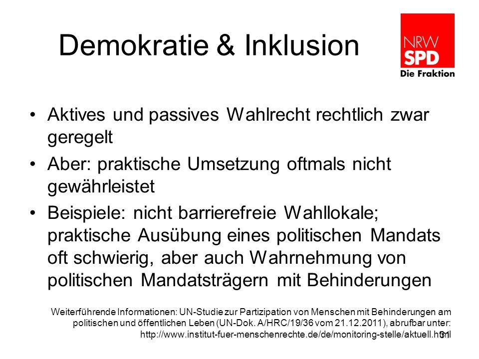 Demokratie & Inklusion