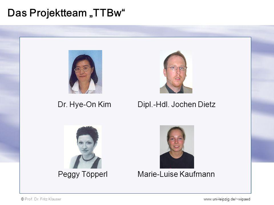 """Das Projektteam """"TTBw"""