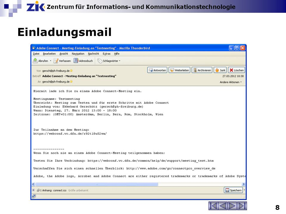 Einladungsmail
