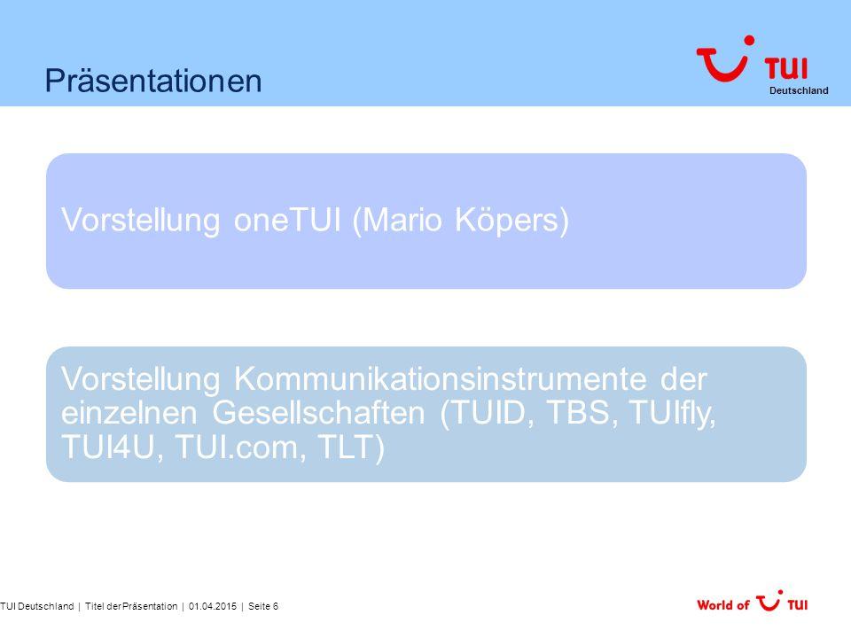 Vorstellung oneTUI (Mario Köpers)