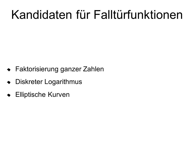 Kandidaten für Falltürfunktionen