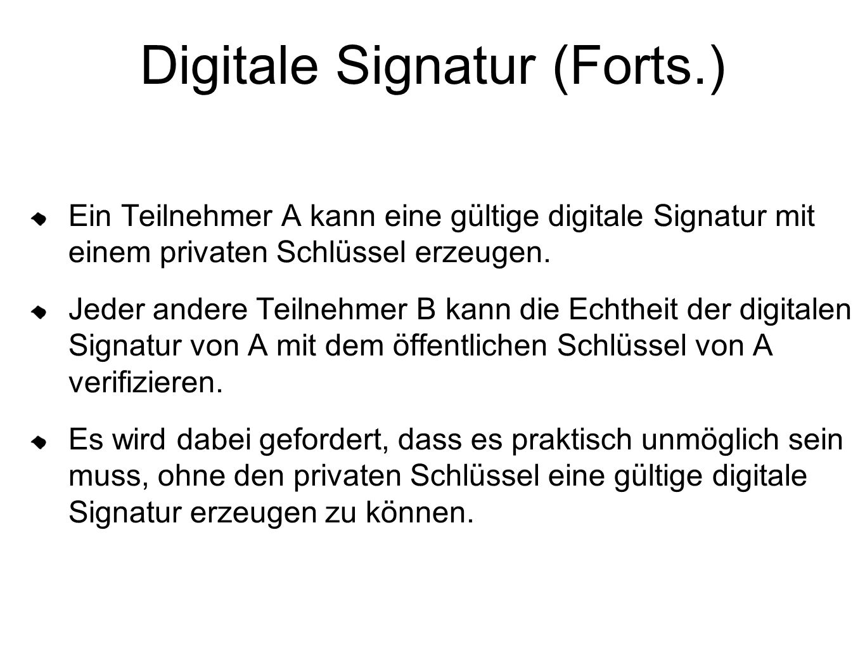 Digitale Signatur (Forts.)