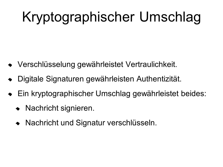 Kryptographischer Umschlag