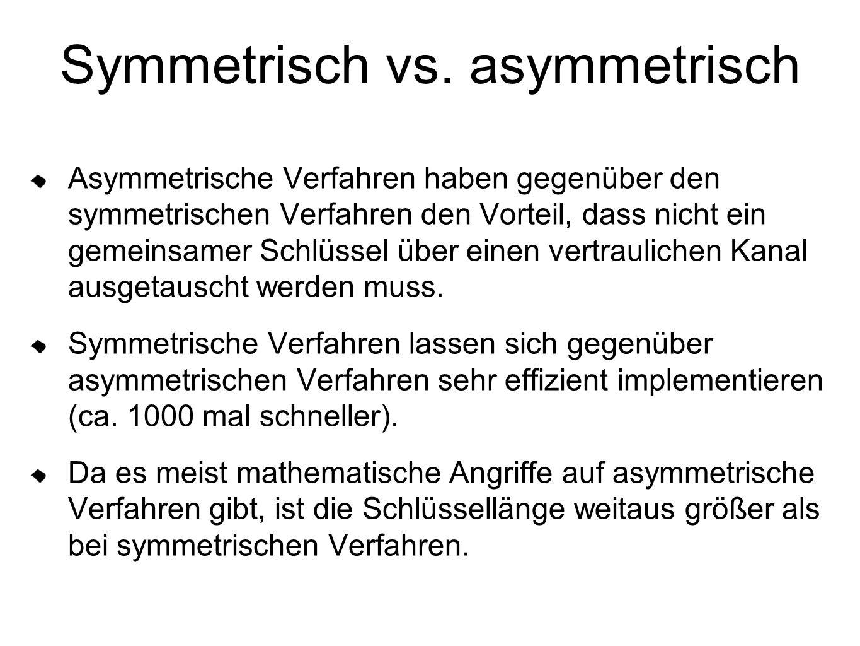 Symmetrisch vs. asymmetrisch