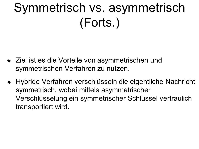 Symmetrisch vs. asymmetrisch (Forts.)
