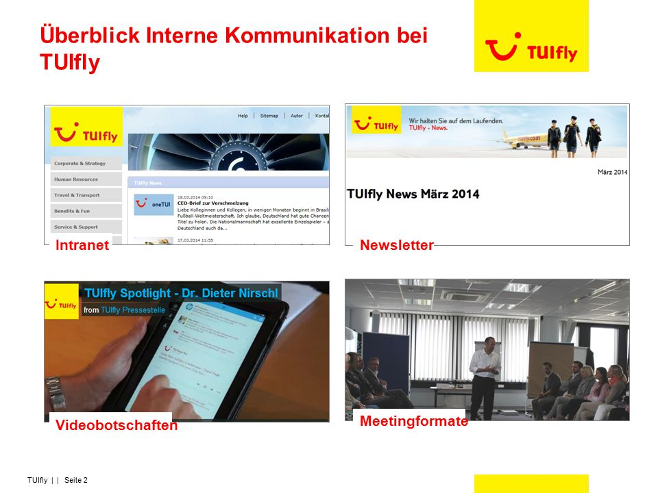 Überblick Interne Kommunikation bei TUIfly
