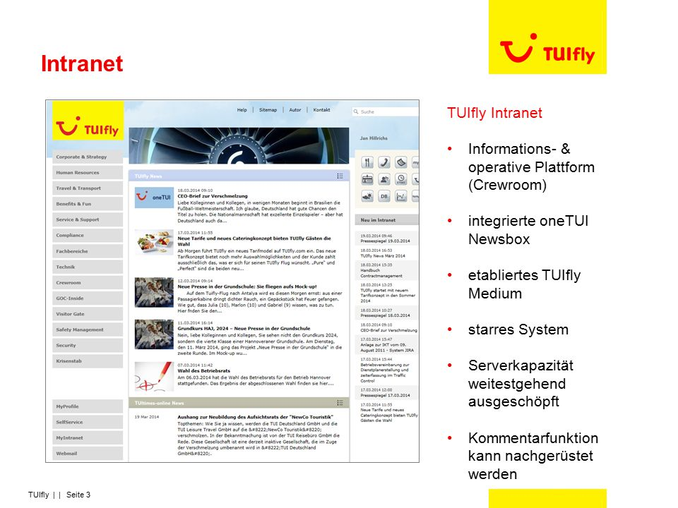 Intranet TUIfly Intranet
