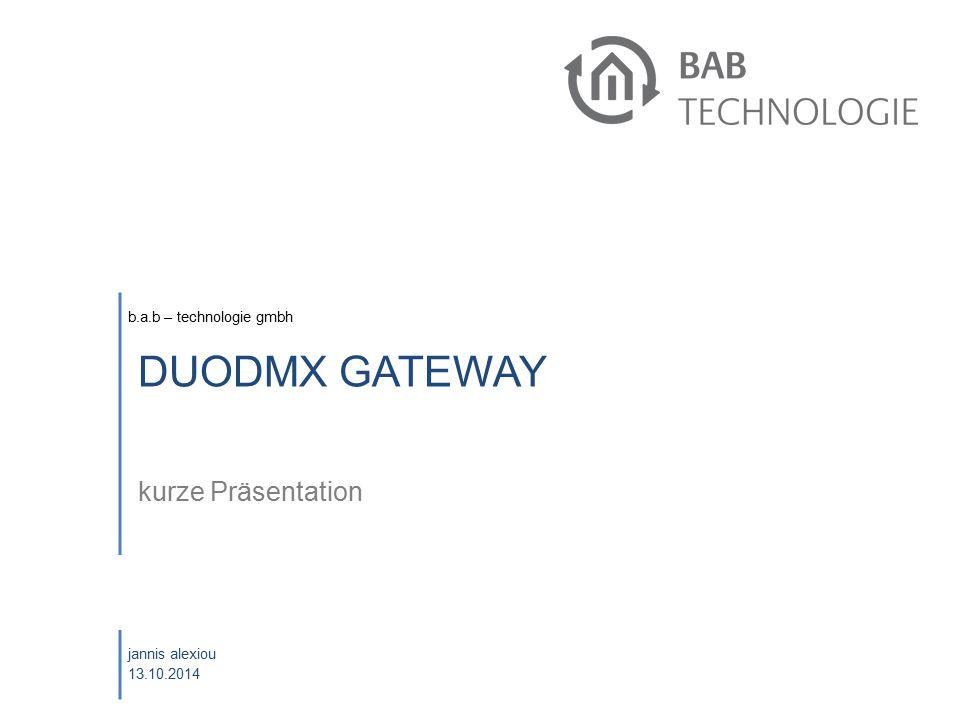 Oktober 2008 DUODMX GATEWAY kurze Präsentation eibPort Schulung