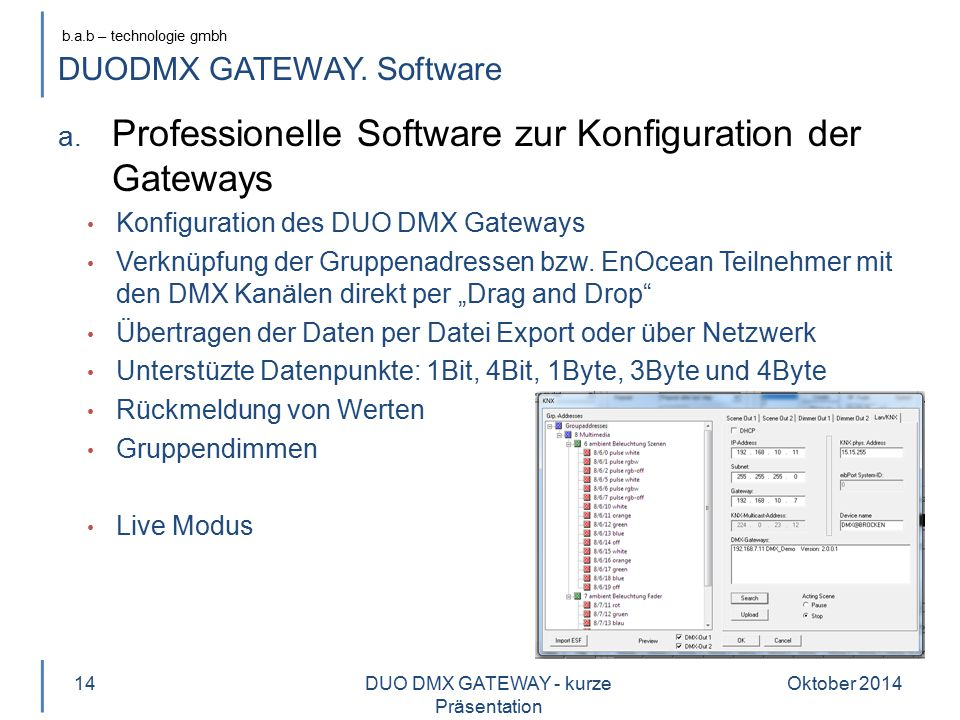 DUODMX GATEWAY. Software