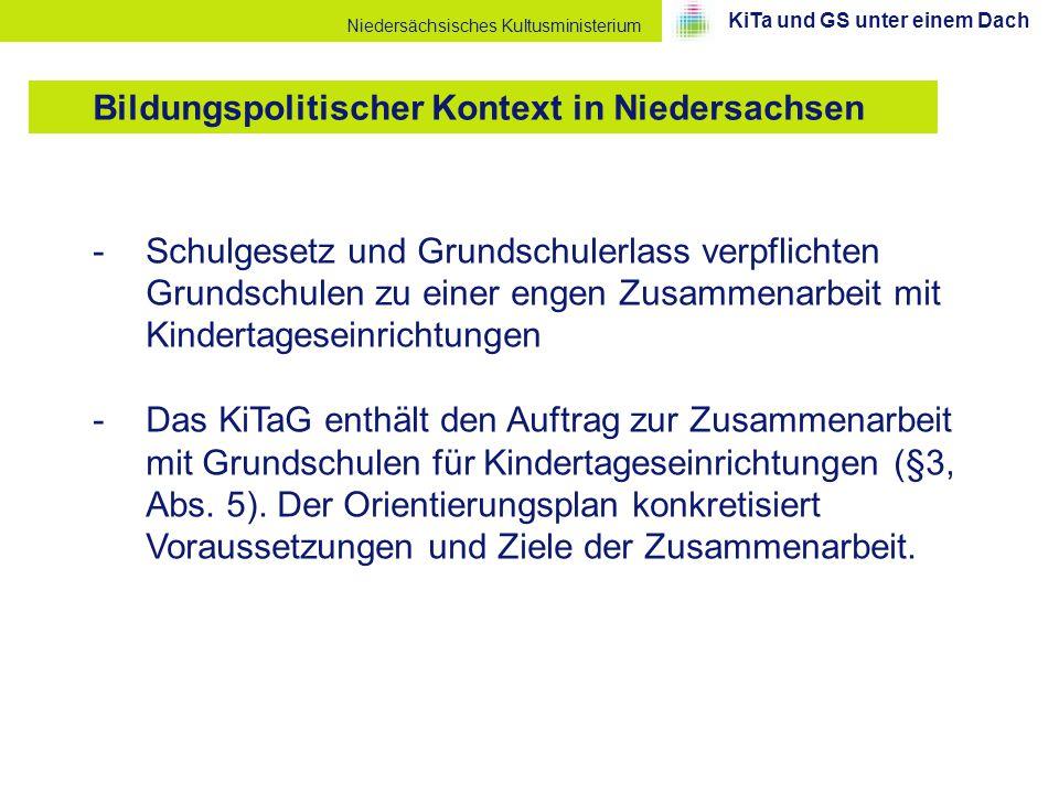 Bildungspolitischer Kontext in Niedersachsen