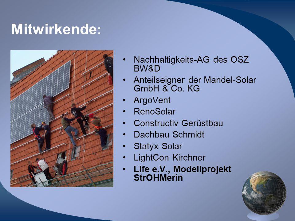Mitwirkende: Nachhaltigkeits-AG des OSZ BW&D